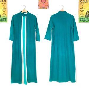 Vintage 1970s striped mod robe retro caftan OSFM